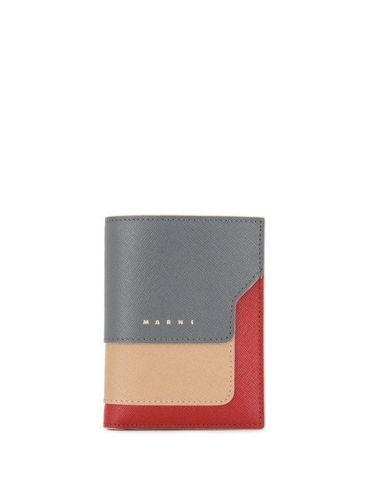Marni Texturiertes Portemonnaie - Rot