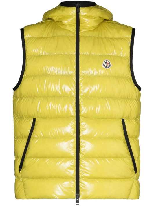 Moncler Lappe quilted zipped gilet - Gelb