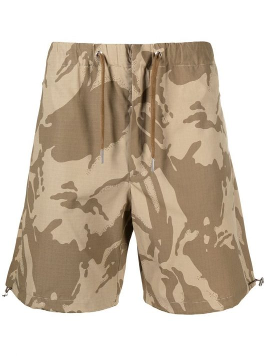 Moncler camouflage-print cargo shorts - Nude