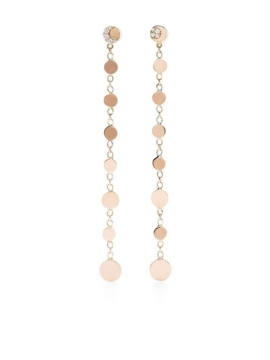 Pasquale Bruni 18kt rose gold drop disc diamond earrings - Rosa