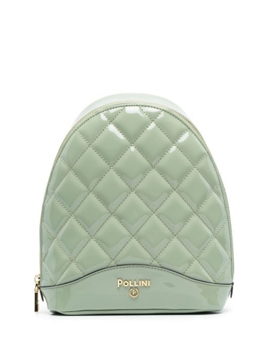 Pollini quilted-effect backpack - Grün