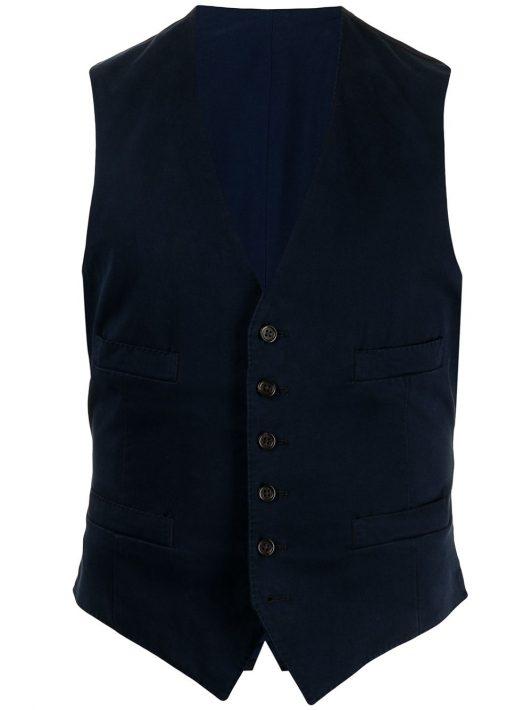 Polo Ralph Lauren Weste mit V-Ausschnitt - Blau
