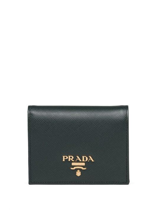 Prada Portemonnaie mit Logo - Grün