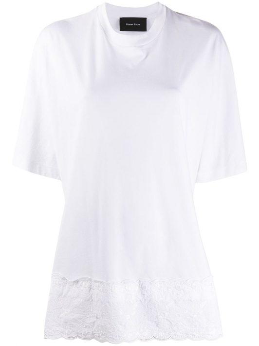 Simone Rocha T-Shirt mit Lochstickerei - Weiß