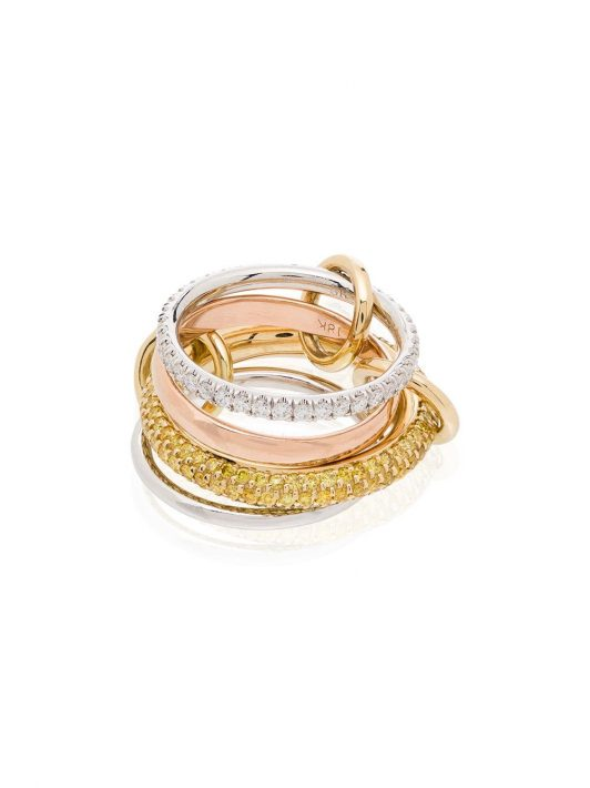 Spinelli Kilcollin 18kt 'Vega' Goldring mit Diamanten - MIXED GOLD
