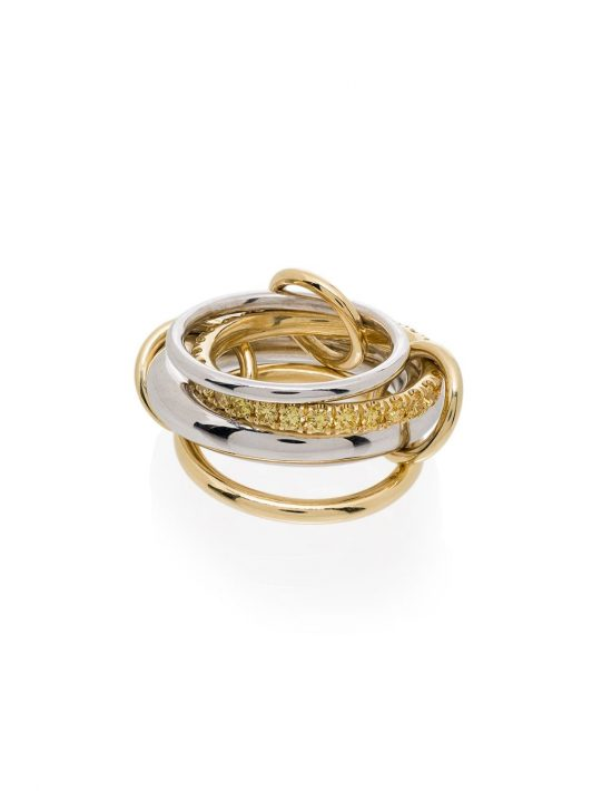 Spinelli Kilcollin 'Luna' 18kt Goldring mit Diamanten - WHITE GOLD YELLOW GOLD