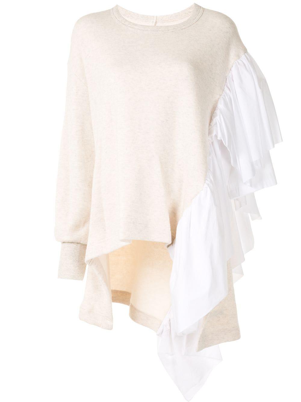 Yohji Yamamoto Pullover mit Rüschen - Nude