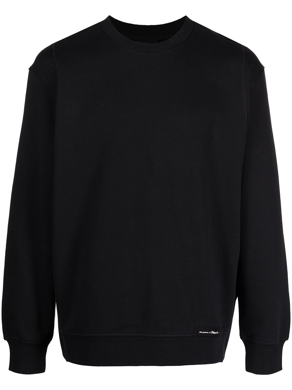 3.1 Phillip Lim Sweatshirt mit Logo-Patch - Schwarz