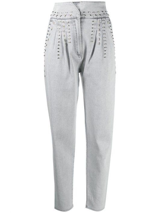 Alberta Ferretti Jeans mit Nieten - Grau