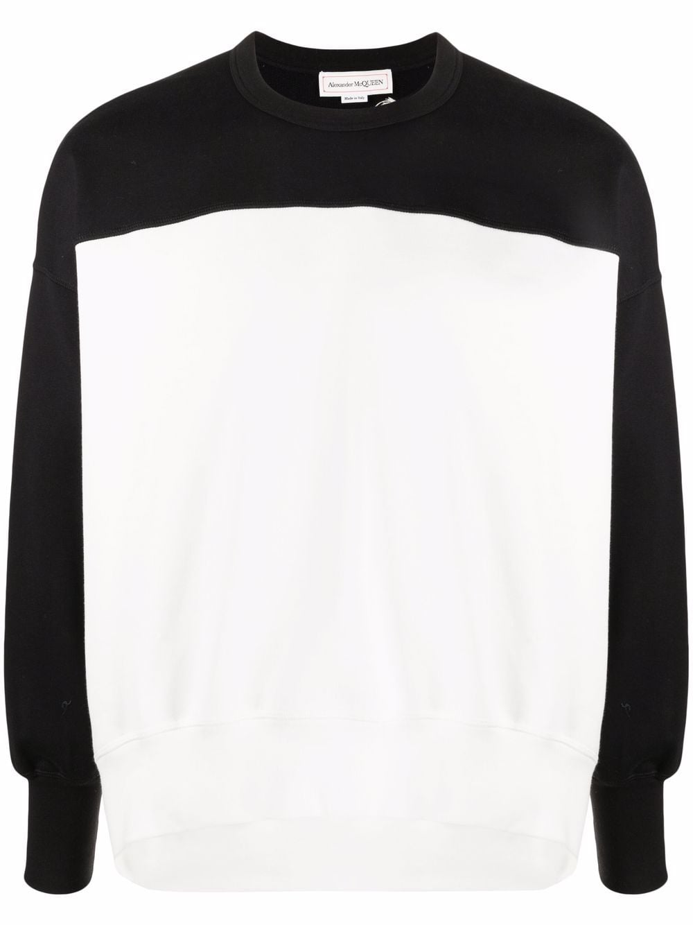 Alexander McQueen two-tone cotton sweatshirt - Schwarz