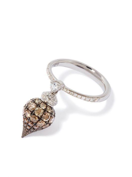 Annoushka 18kt Weißgoldring mit Diamanten - 18ct White Gold