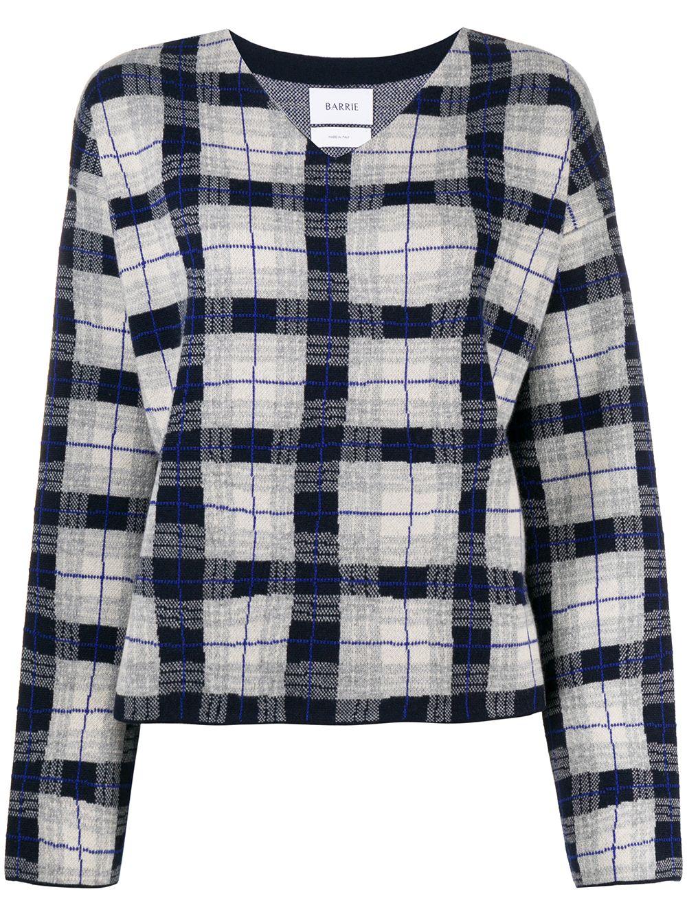 Barrie Karierter Pullover - Grau