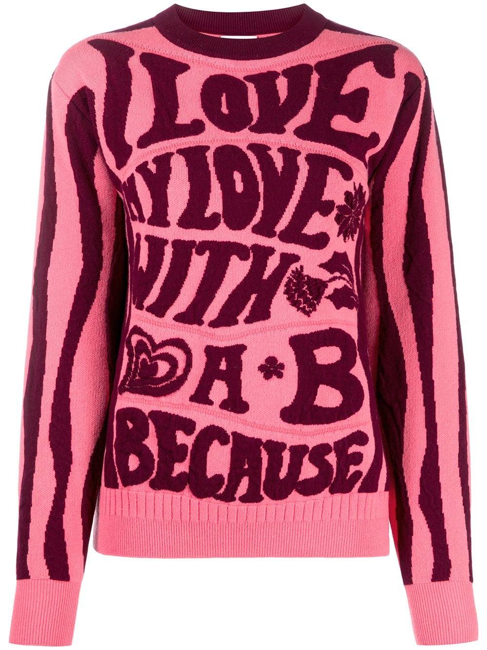 Barrie 'Love Wonderland' Pullover mit rundem Ausschnitt - Rosa