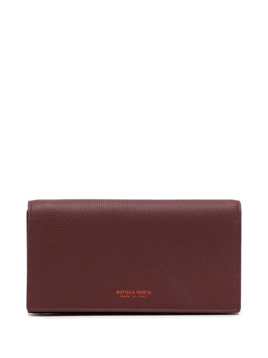 Bottega Veneta Portemonnaie mit Logo-Stempel - Rot