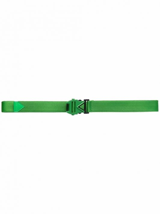 Bottega Veneta buckle-fastening thin belt - Grün