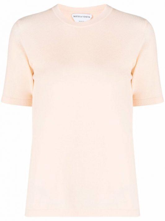 Bottega Veneta knitted cashmere T-shirt - Nude