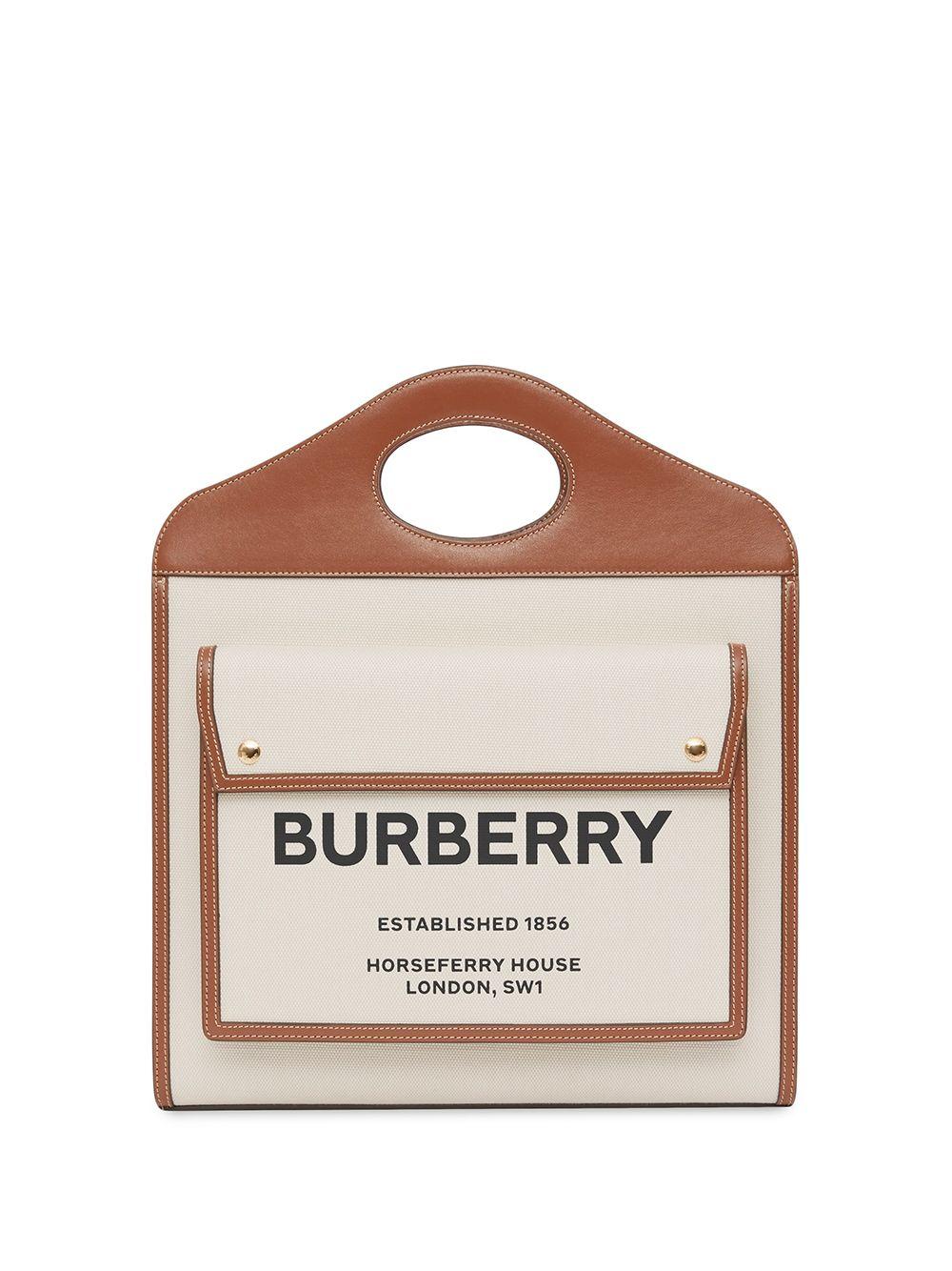 Burberry Mittelgroße Pocket Handtasche - Nude