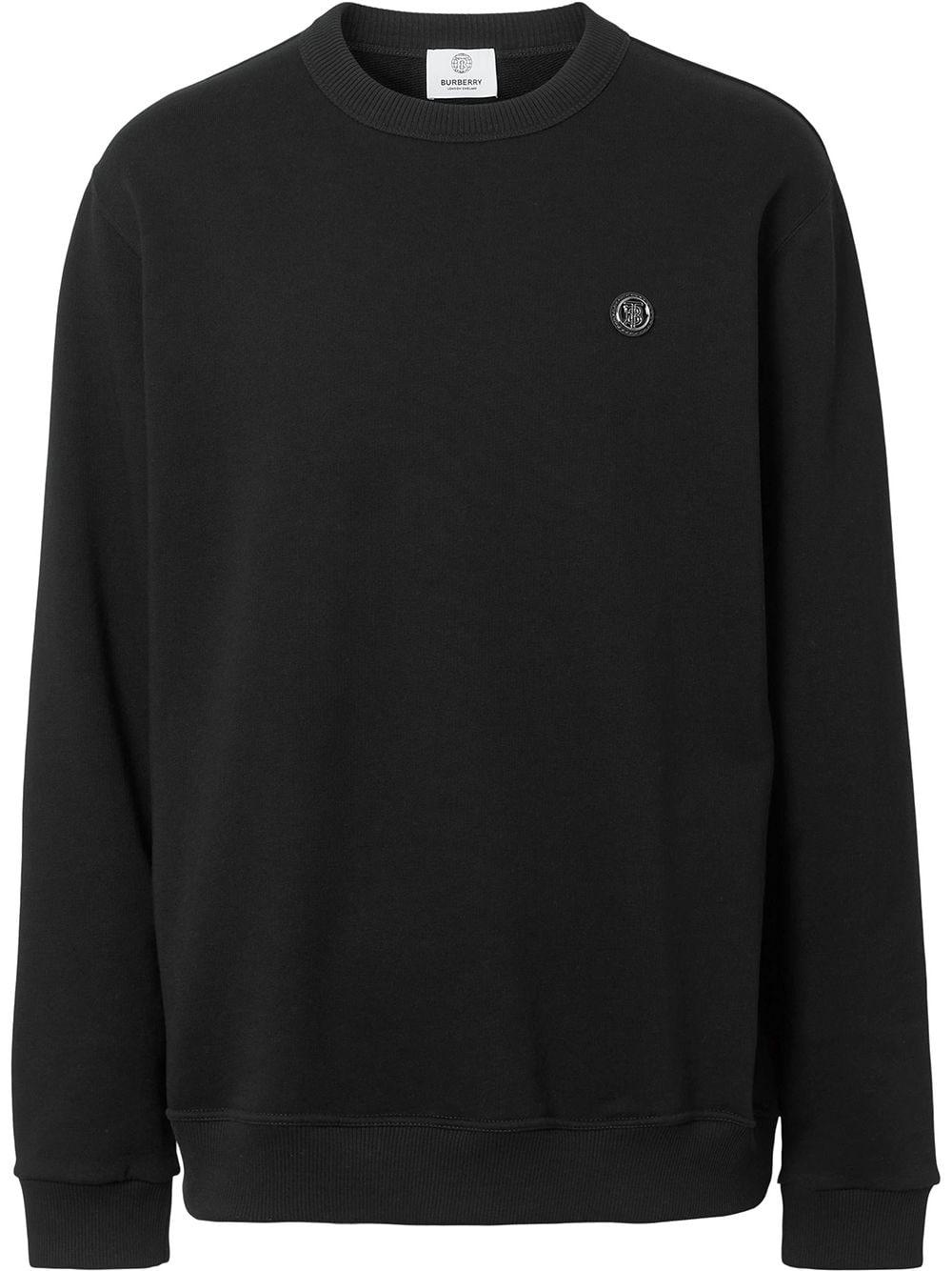 Burberry monogram-appliqué sweatshirt - Schwarz