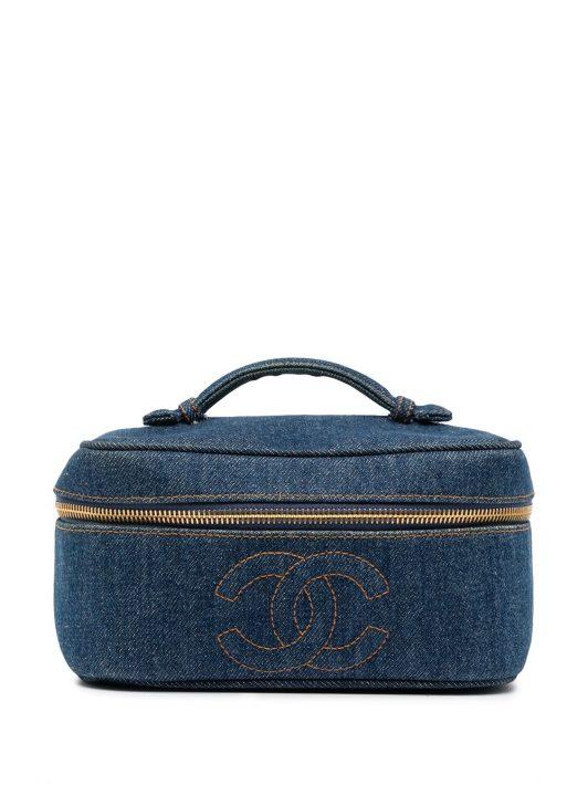 Chanel Pre-Owned 1997 Jeans-Kosmetiktasche mit CC - Blau