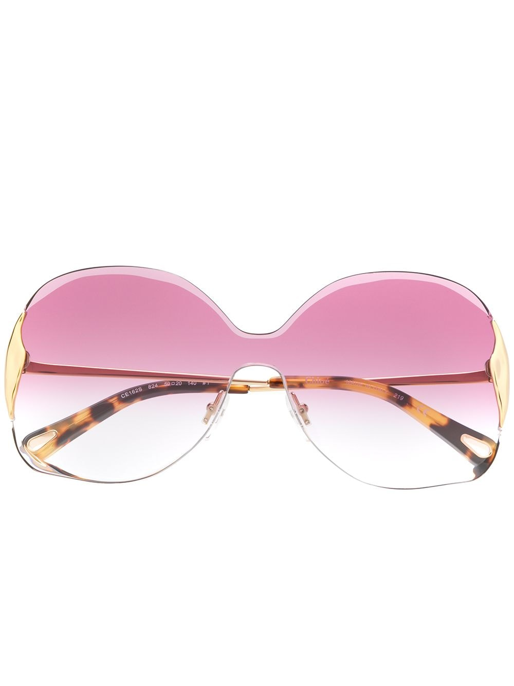 Chloé Eyewear 'Curtis' Sonnenbrille - Gold