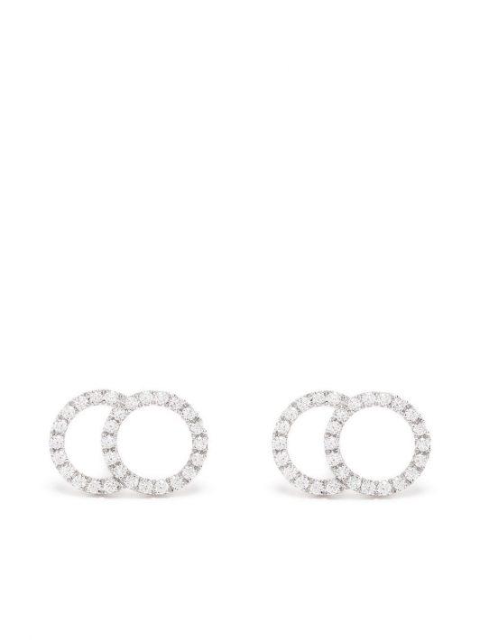 Courbet 18kt Weißgoldohrringe mit Diamanten - Silber