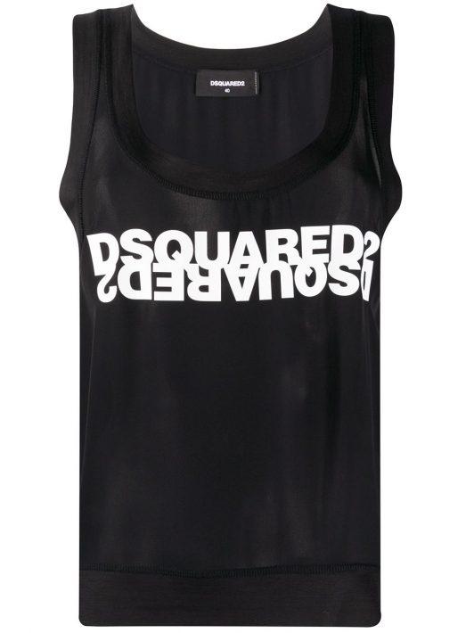 Dsquared2 T-Shirt mit Logo-Print - Schwarz