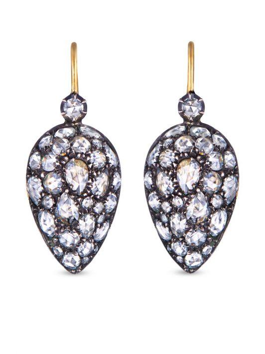FRED LEIGHTON 18kt Gelbgoldcreolen mit Diamanten