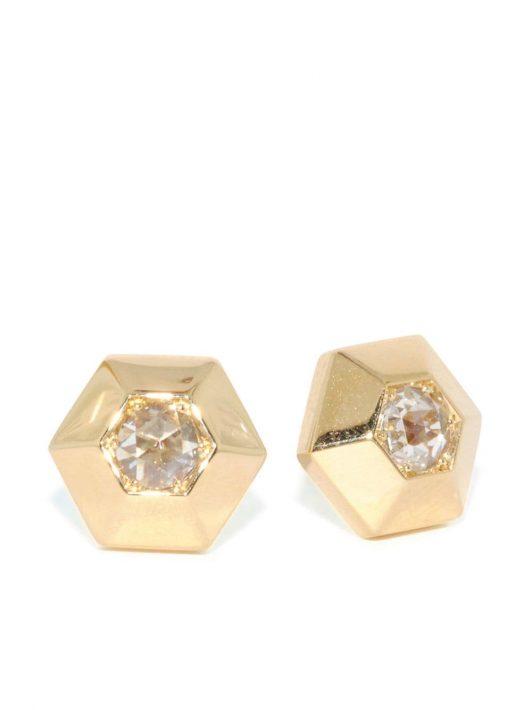 FRED LEIGHTON 18kt Gelbgoldohrstecker mit Diamanten