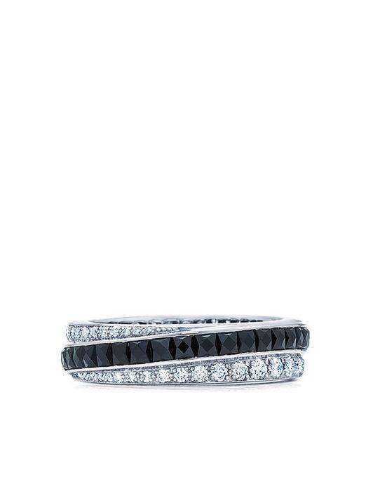 FRED LEIGHTON 18kt Weißgoldring mit Diamanten - Silber