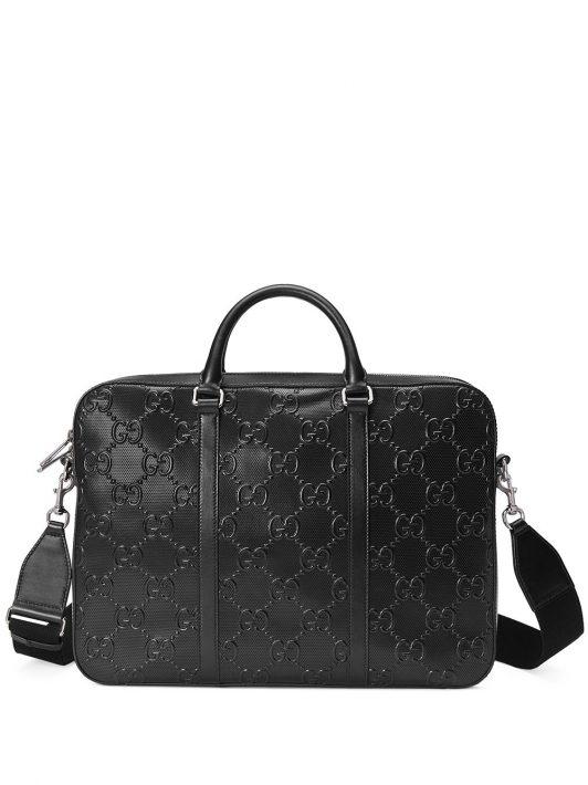 Gucci Aktentasche mit GG - Schwarz