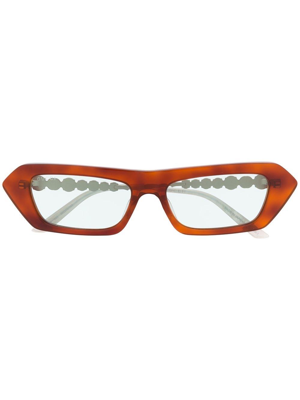 Gucci Eyewear Sonnenbrille mit Kristallen - Braun