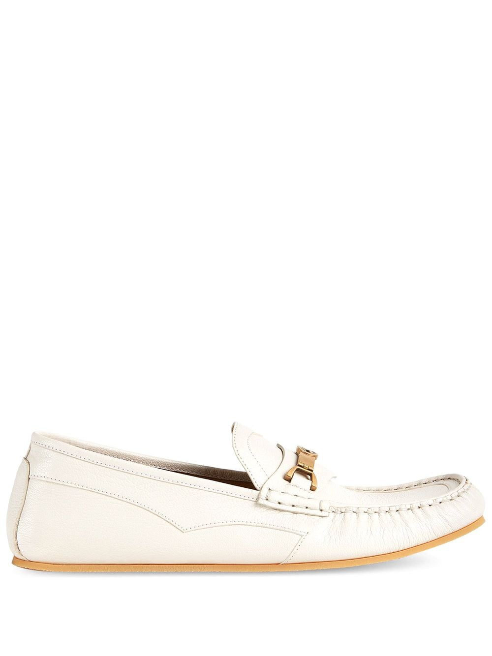 Gucci Horsebit-detail loafers - Weiß