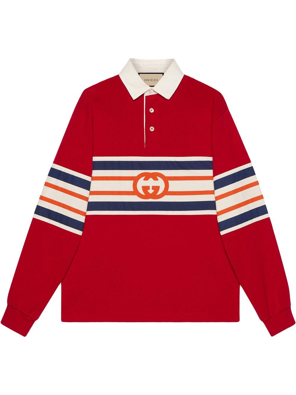 Gucci Interlocking G jersey polo sweatshirt - Rot