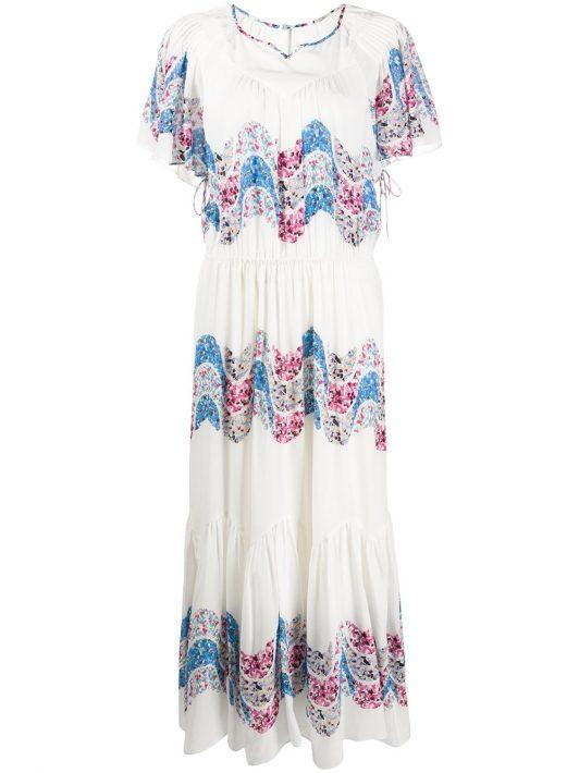 Isabel Marant 'Nimo' Kleid aus Seide - Weiß