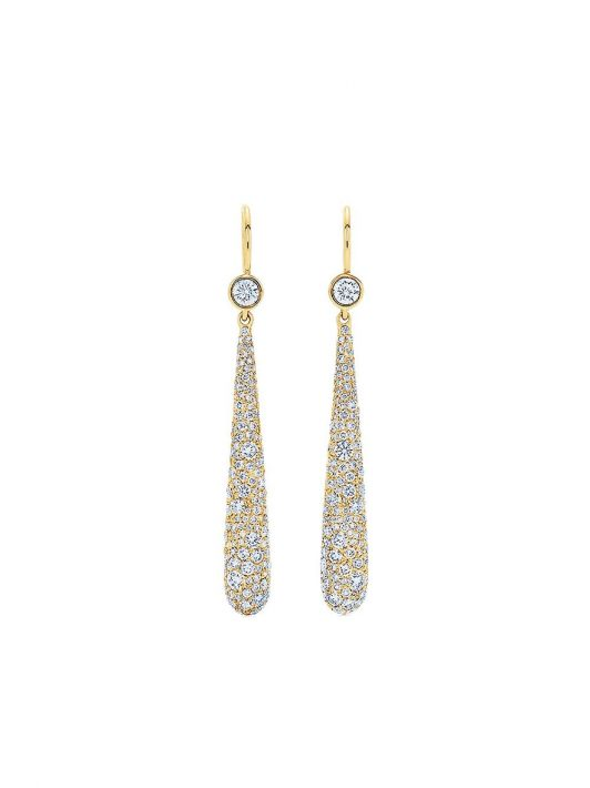 KWIAT 18kt Cobblestone Gelbgold-Hängeohrringe mit Diamanten