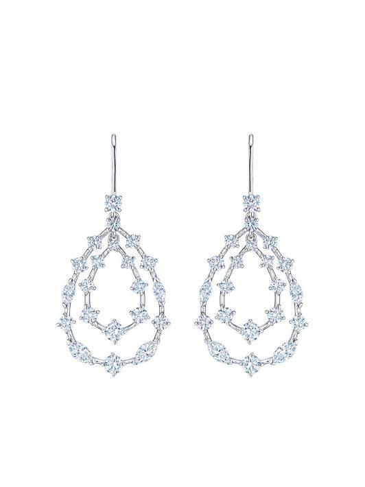 KWIAT 18kt Weißgoldohrringe mit Diamanten - Silber