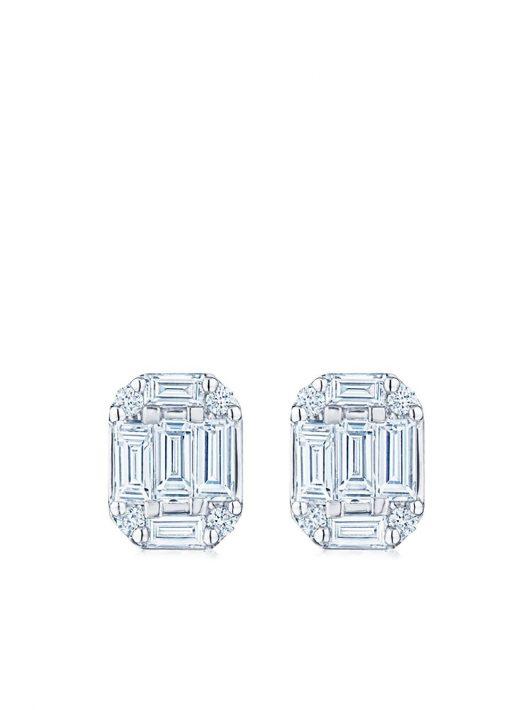 KWIAT 18kt Weißgoldohrstecker mit Diamanten - Silber