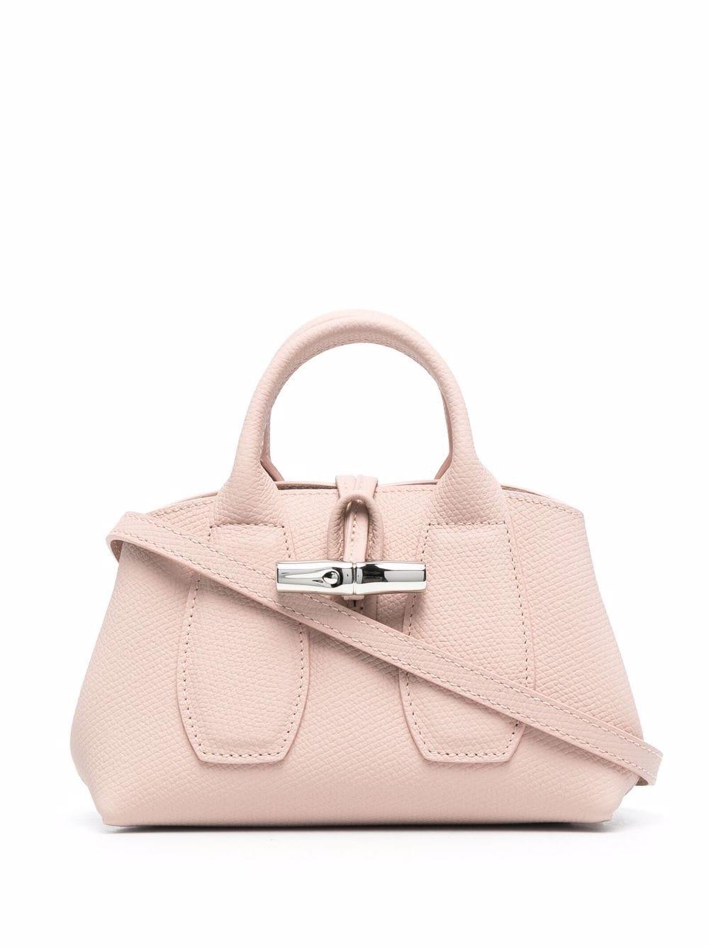 Longchamp Mini Roseau Handtasche - Rosa