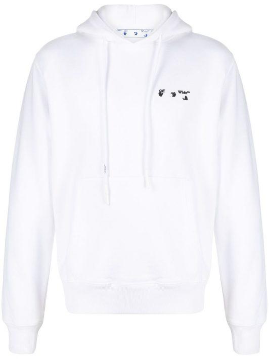Off-White Hoodie mit Logo - Weiß