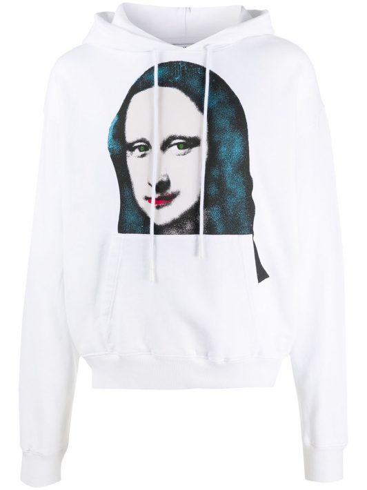 Off-White Monalisa Kapuzen-Pullover - Weiß