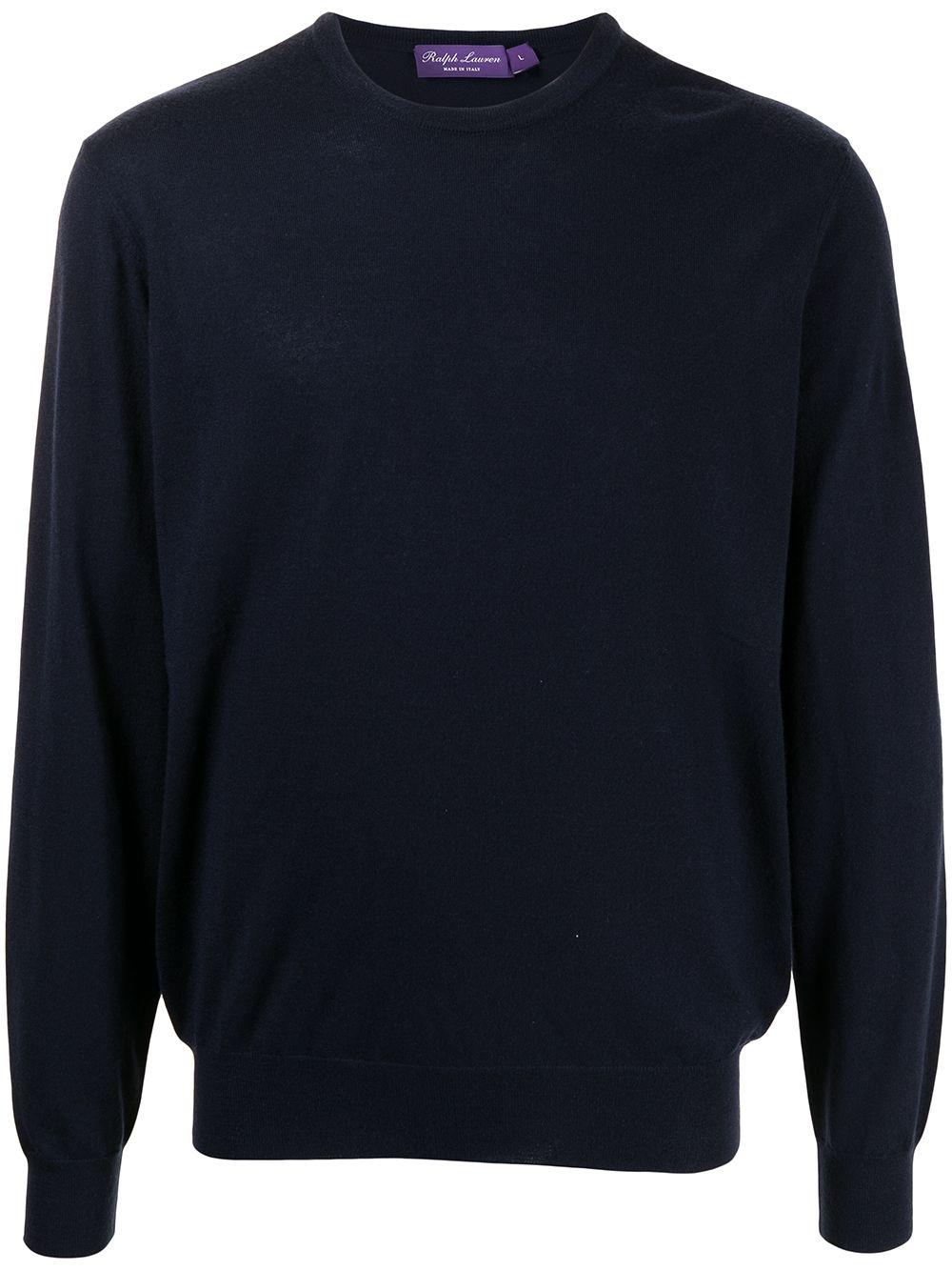 Polo Ralph Lauren long-sleeved cashmere-knit sweatshirt - Blau