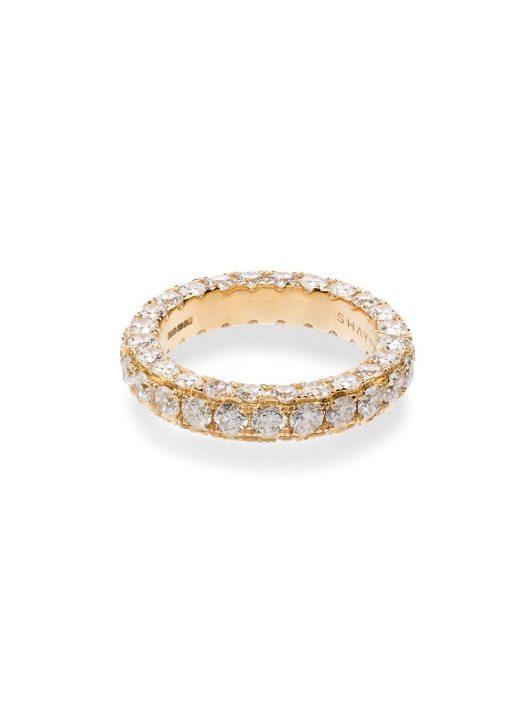SHAY 18kt Gelbgoldring mit weißen Diamanten - WHITE
