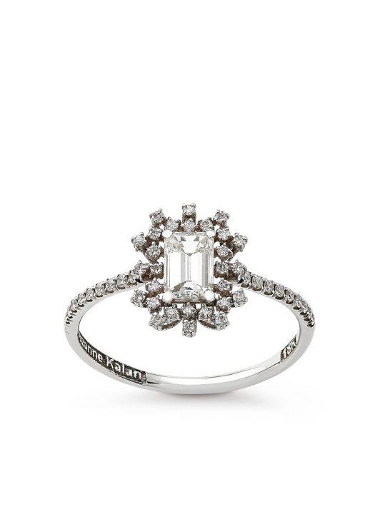 Suzanne Kalan 18kt One of a Kind Weißgoldring mit Diamanten - Silber