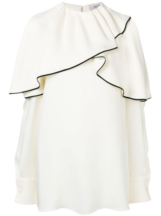 Valentino Oberteil mit Volants - Weiß