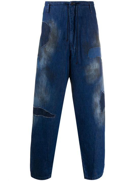 Yohji Yamamoto Jeans mit lockerem Schnitt - Blau