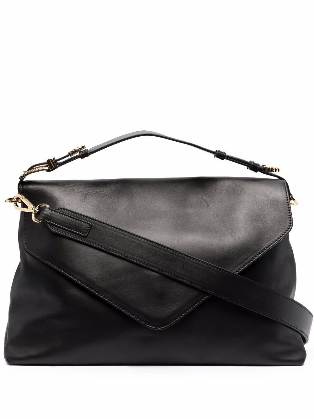 Alberta Ferretti Handtasche mit Schnalle - Schwarz