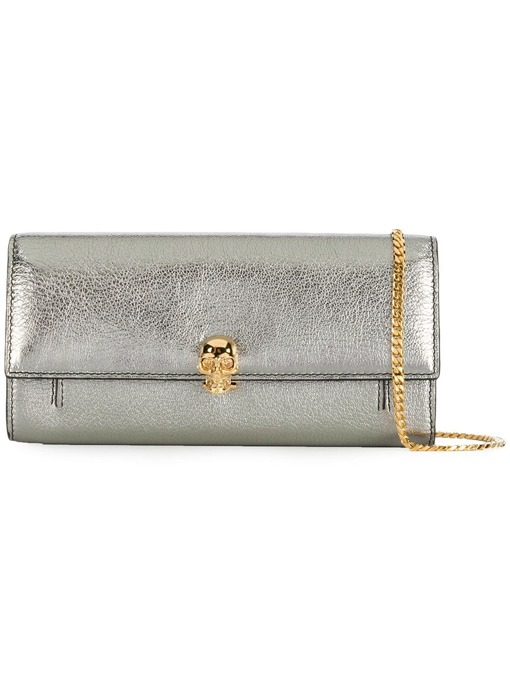 Alexander McQueen Portemonnaie mit Kette - Silber