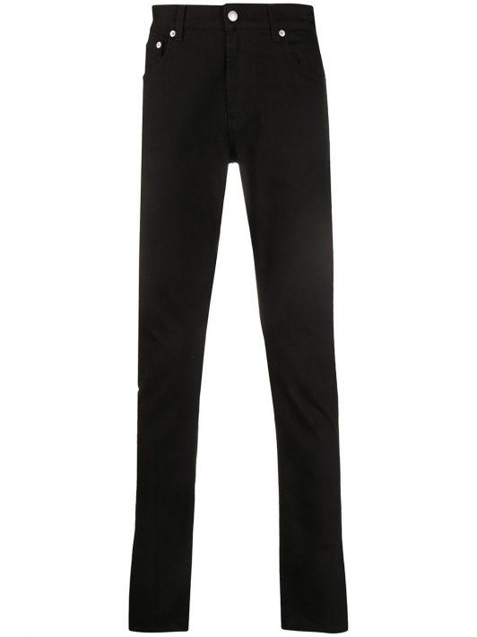 Alexander McQueen Skinny-Jeans mit Logo-Stickerei - Schwarz