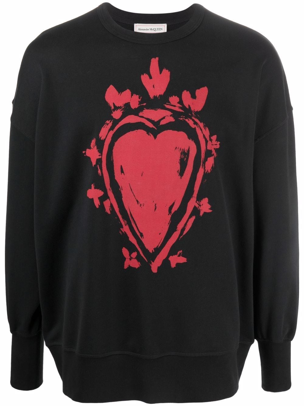 Alexander McQueen heart-print sweatshirt - Schwarz