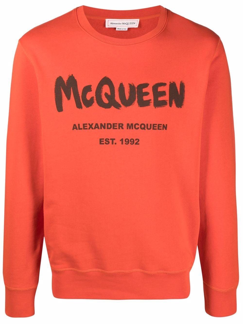 Alexander McQueen logo-print sweatshirt - Orange